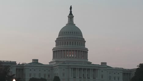 Zoom-back-from-the-Capitol-Building-at-dusk