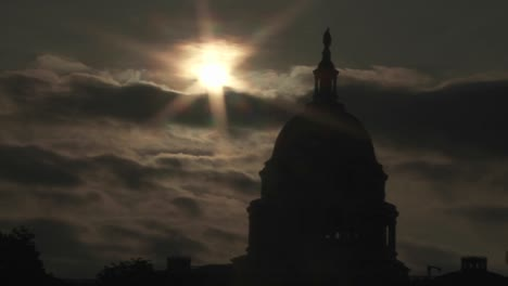 A-time-lapse-shot-of-clouds-moving-behind-the-Capitol-Building-in-Washington-DC