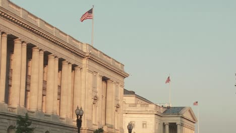 Flags-fly-atop-buildings-in-Washington-DC