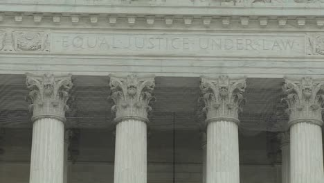 A-tilt-up-to-the-Supreme-Court-Building-and-the-phrase-Equal-Justice-Under-Law