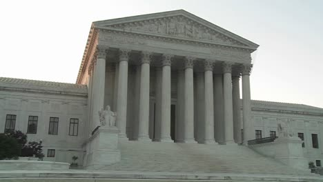 Zoom-back-from-the-pillars-of-the-Supreme-Court-Building-in-Washington-DC