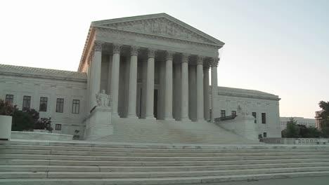 An-establishing-shot-of-the-Supreme-Court-Building-in-Washington-DC