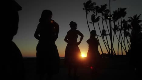 Dancer-perform-a-traditional-dance-in-front-of-the-sunset