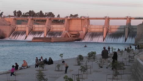 A-hydroelectric-dam-in-Iran-