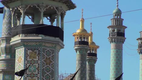 Traditional-Islamic-spires-in-a-building-in-Iran-