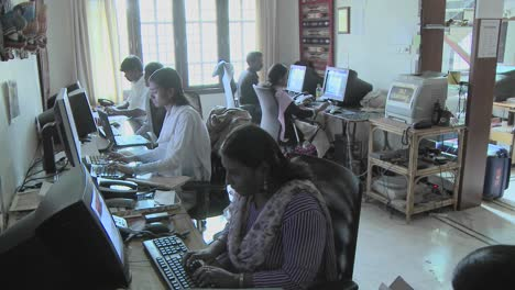A-group-of-people-are-busy-using-computers