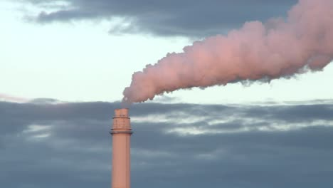 Flue-gas-from-a-chimney-in-a-power-plant