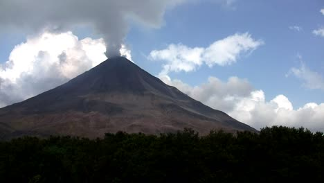 An-active-volcano-bilious-smoke-and-ash