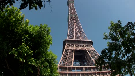Handheld-tilt-up-to-Eiffel-Tower-paris