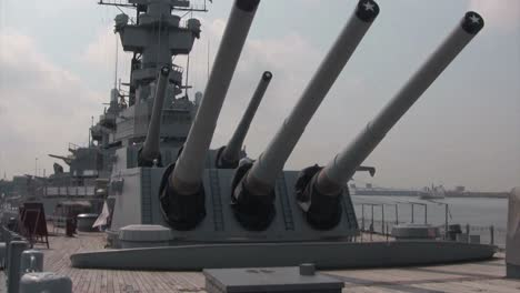 The-gun-turrets-of-a-battleship-stand-ready