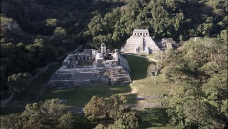 An-aerial-view-over-Palenque-Mayan-pyramids-in-Mexico-2