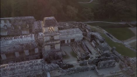 An-aerial-view-over-Palenque-Mayan-pyramids-in-Mexico-3