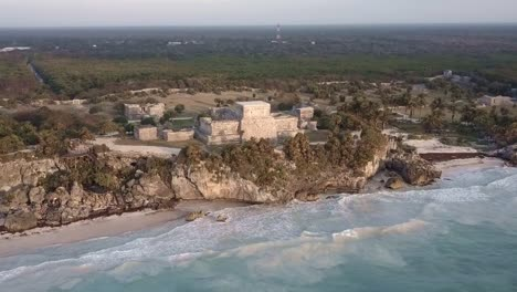 An-aerial-over-the-ruins-of-Tulum-region-Mexico-Yucatan