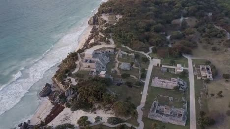 An-aerial-over-the-ruins-of-Tulum-region-Mexico-Yucatan-1