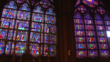 Famed-stained-glass-windows-inside-the-Notre-Dame-Cathedral-in-Paris