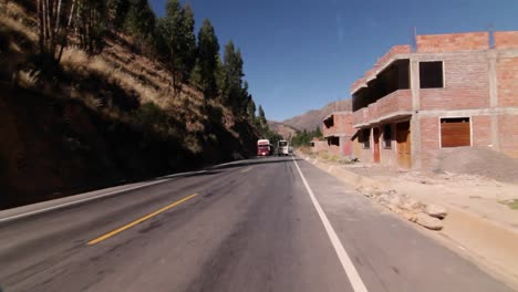 Travelling-down-the-road-out-of-Cusco