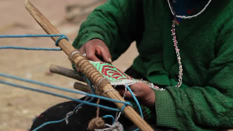 Pan-of-traditional-art-being-woven