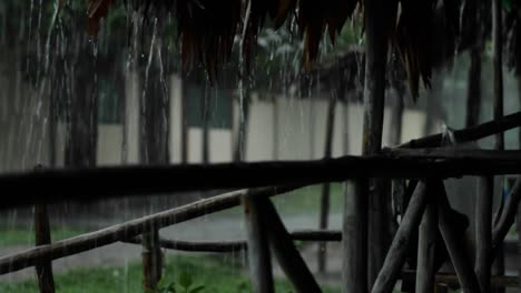 Rain-pouring-down-outside-hut