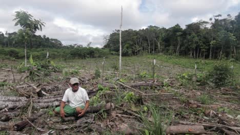 Peruvian-man-sitting-in-deforested-area