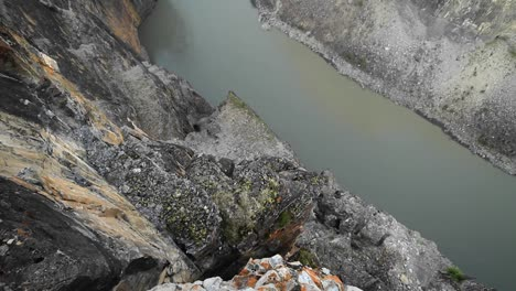 Looking-down-cliff-to-river-below