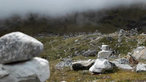 Wide-shot-shifting-to-focus-on-one-chorten