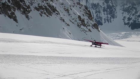Plane-landing-on-glacier