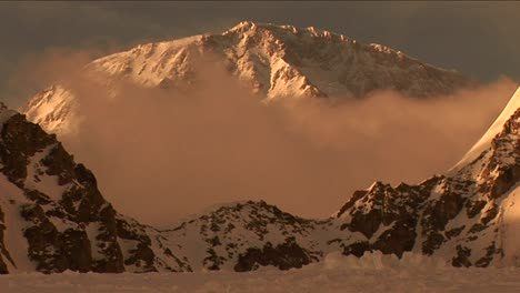 Denali-with-cloud-in-front-at-sunset