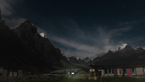 Pheriche-village-at-night-with-starry-sky