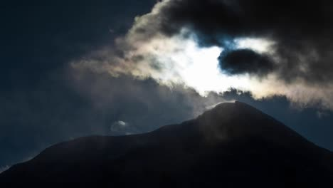 Mount-Hunter-with-cloud-cover-and-sun