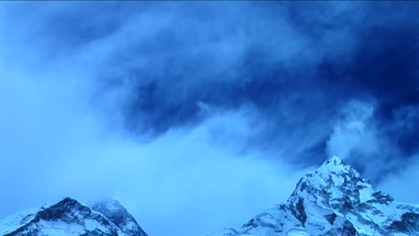 Clouds-over-Everest-in-blue-light