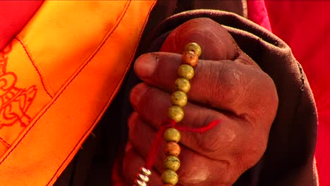 Closeup-of-Lama-using-prayer-beads