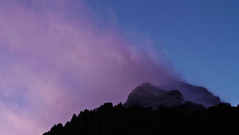 Aconcagua-Time-Lapse-Close-up-of-the-summit-at-dusk-1