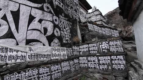 Large-stone-monument-with-Sanskrit