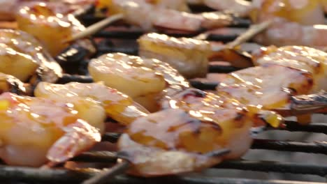 Shrimps-are-grilled-on-a-barbecue-1