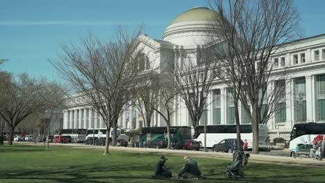 Toma-De-Establecimiento-Del-Museo-Del-Instituto-Smithsonian-En-Washington-Dc