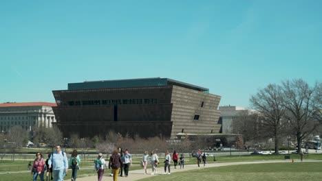 Establecimiento-De-Tiro-Del-Museo-Afroamericano-Del-Instituto-Smithsonian-En-Washington-Dc