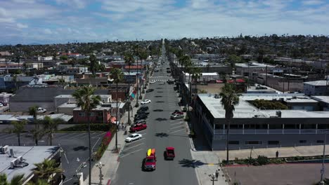 Aerial-of-empty-abandoned-town-and-beaches-of-southern-california-with-no-one-during-covid19-coronavirus-epidemic-as-people-stay-home-en-masse