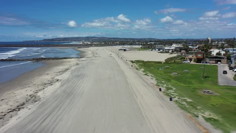 Aerial-of-empty-abandoned-beaches-of-southern-california-with-no-one-during-covid19-1