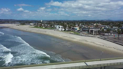 Aerial-of-empty-abandoned-beaches-of-southern-california-with-no-one-during-covid19-2