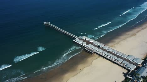 Aerial-of-empty-abandoned-beaches-of-southern-california-with-no-one-during-covid19-6