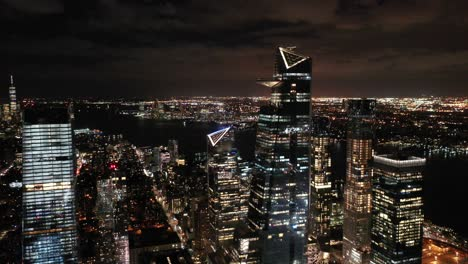 An-vista-aérea-view-shows-the-skyline-by-the-westward-Hudson-Yards-in-New-York-City-New-York