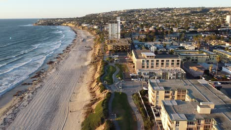 Aerial-over-Pacific-Beach-and-condos-apartments-and-buildings-in-San-Diego-California