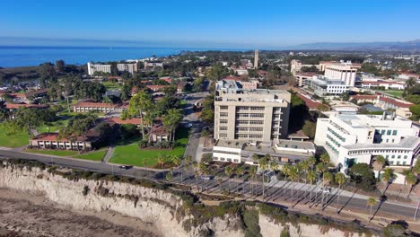 Aerial-of-the-University-of-California-Santa-Barbara-UCSB-college-campus-with-Storke-Tower-distant-and-research-buildings-2