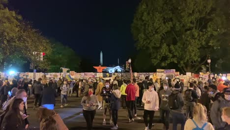 Crowds-Gather-Around-The-White-House-On-Election-Night-Some-Holding-Protest-Signs-In-Washington-Dc-1