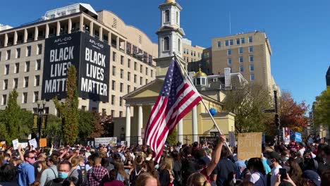 Crowds-Gather-Outside-St-Johns-Episcopal-Church-At-Lafayette-Square-In-Washington-Dc-To-Celebrate-The-Victory-Of-Joe-Biden
