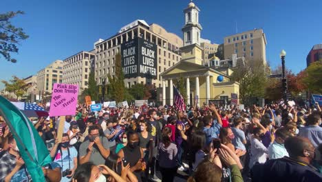 Crowds-Gather-Outside-St-Johns-Episcopal-Church-At-Lafayette-Square-In-Washington-Dc-To-Celebrate-The-Victory-Of-Joe-Biden-1