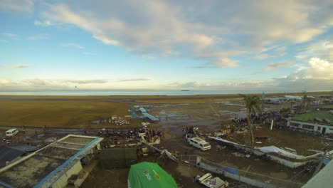 Time-Lapse-Over-The-Airport-And-Airbase-At-Tacloban-In-The-Philippines-Following-Typhoon-Haiyan