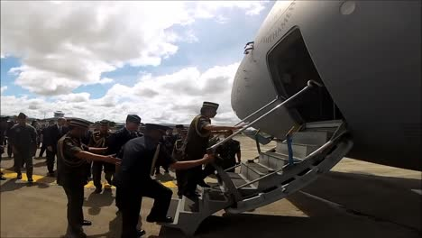 The-Sultan-Of-Brunei-Performs-An-Inspection-Of-Military-Aircraft-On-The-Island-Of-Borneo-1