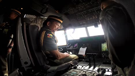 The-Sultan-Of-Brunei-Performs-An-Inspection-Of-Military-Aircraft-On-The-Island-Of-Borneo-2