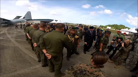 The-Sultan-Of-Brunei-Performs-An-Inspection-Of-Military-Aircraft-On-The-Island-Of-Borneo-3